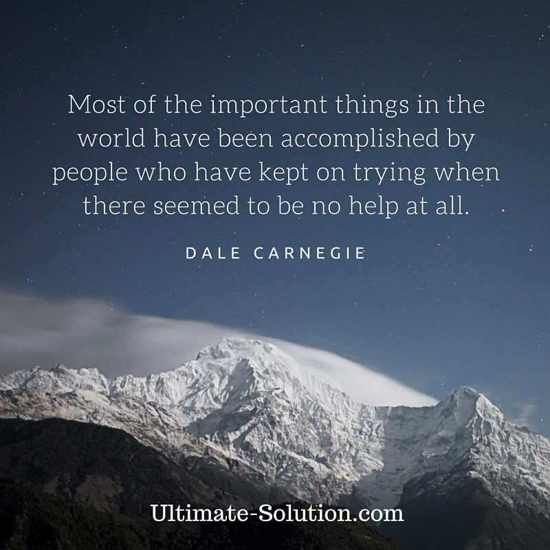 Quote by Dale Carnagie